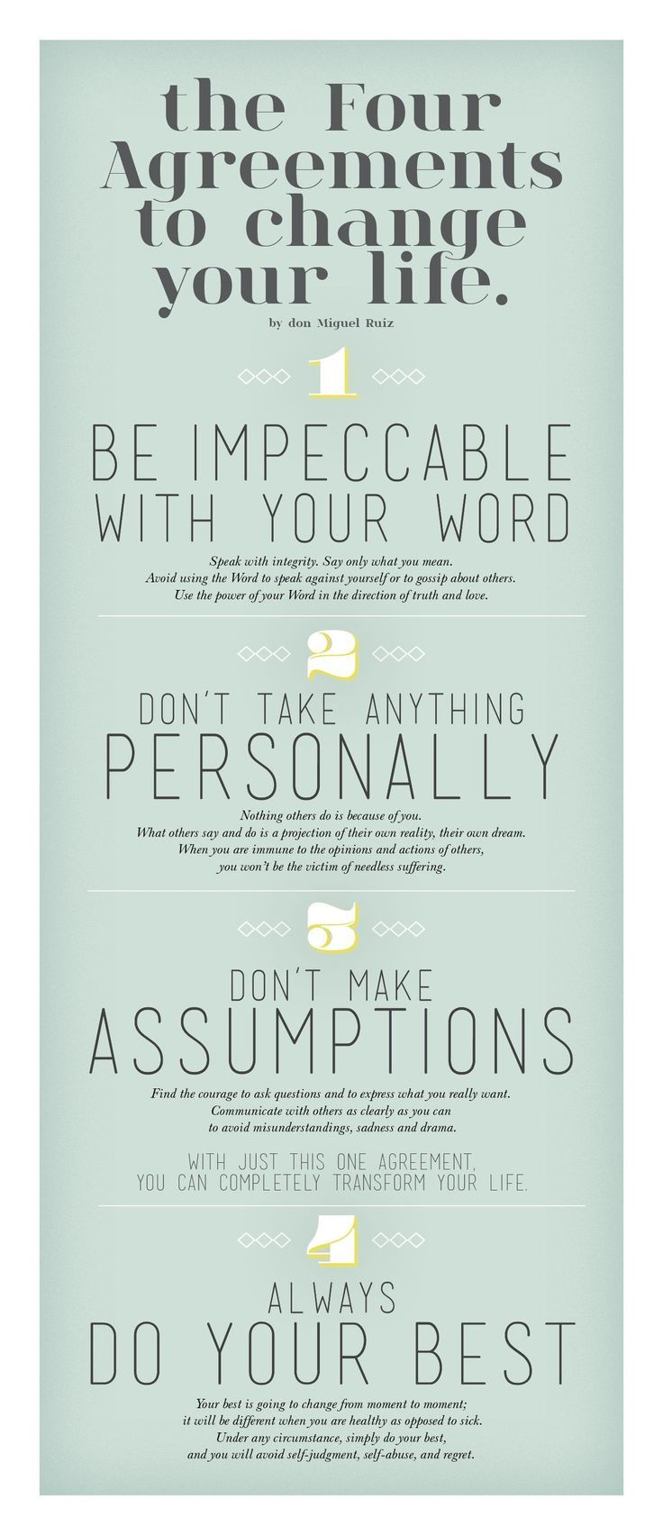 Four Agreements Quotes Digital Information World  Life Rules Change And Inspirational
