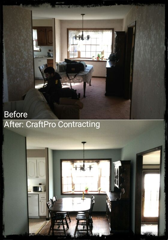 Wallpaper removal, wall repair, sealing/priming and interior ...