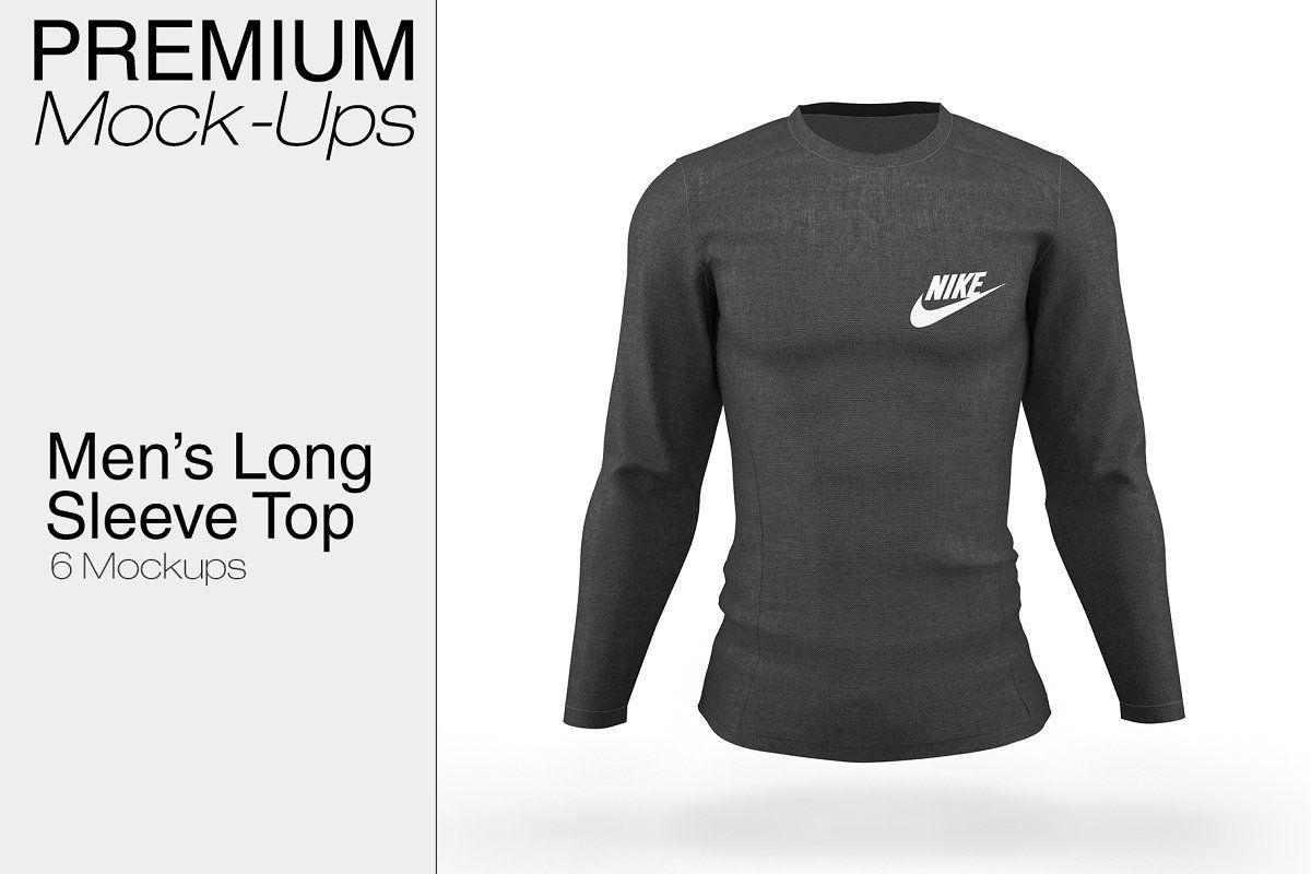 Download Men S Long Sleeve Top Mockup Long Sleeve Tops Men Long Sleeve Tops Shirt Mockup
