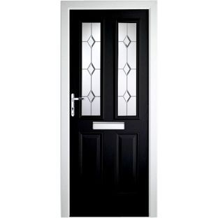 PVC Composite Door 2 Narrow Lite - 36.25in - Black - Right Hand from Homebase.co.uk | Home | Pinterest | Doors Door sets and Front doors  sc 1 st  Pinterest : homebase door numbers - pezcame.com