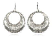 Satya Jewelry Silver Lotus Bali Edge Sterling Earrings