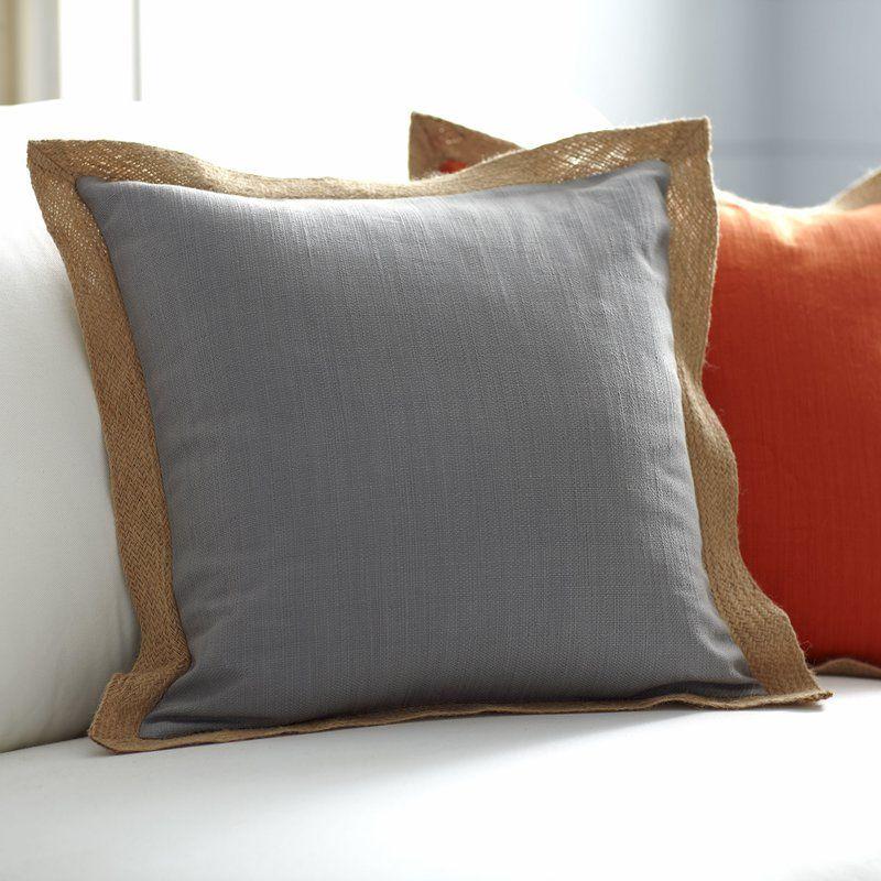 Cadence Jute Trim Pillow Cover Basement Pinterest Jute Best Jute Pillow Cover With Braided Trim