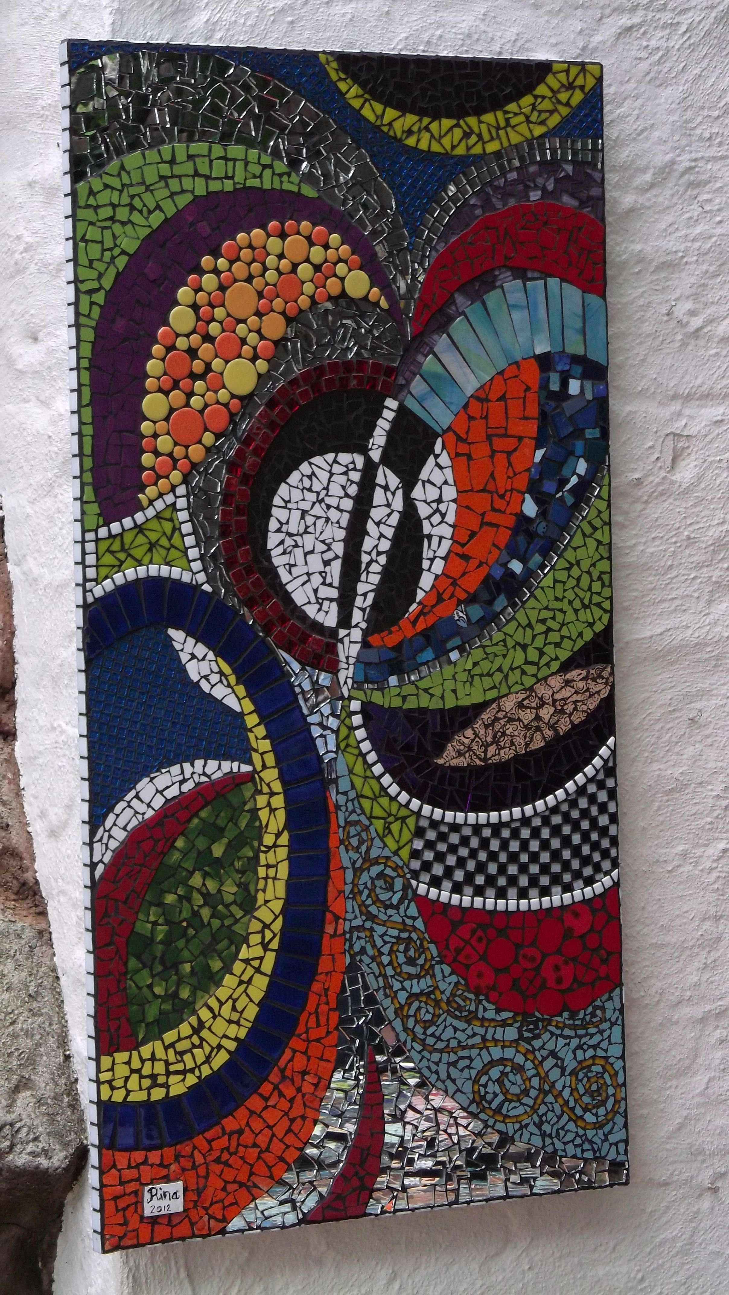 """Mosaic Abstract Panel Student Work Tutored Craft Fourways """" Of Kind"""""""