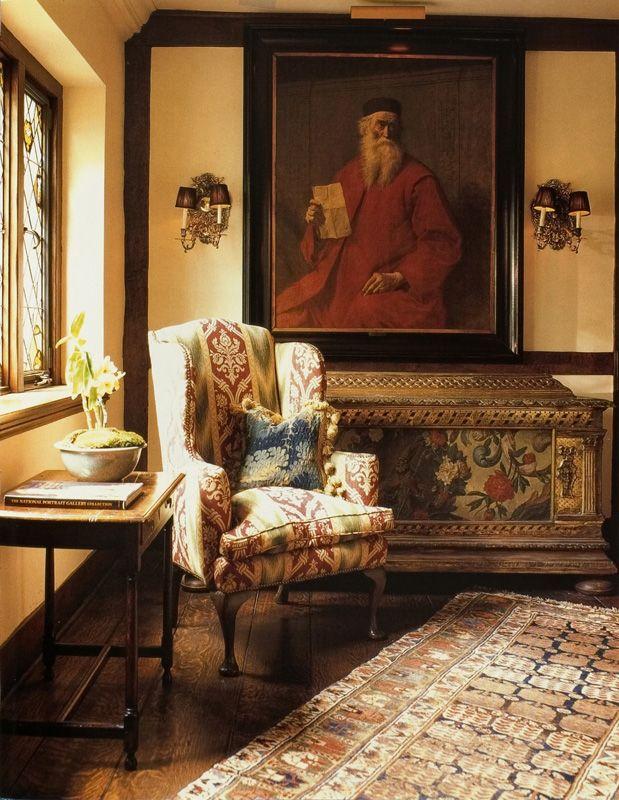 A Corner View Of William R Eubanks S 1920 S Tudor Style Home In Memphis Love British Decor Classical Interior Design Interior