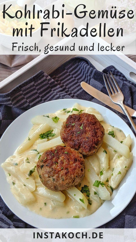 Kohlrabigemüse in heller Soße ist ein einfaches Low Carb Gericht, das schnell …