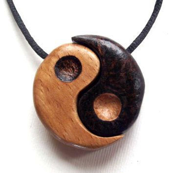 Wood yin yang pendant two piece with from fluffyfenris fashion wood yin yang pendant two piece with from fluffyfenris mozeypictures Choice Image