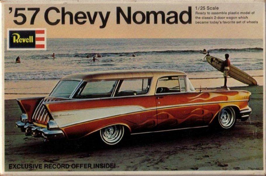 Revell 57 Chevy Nomad Model Kit Plastic Model Kits Cars