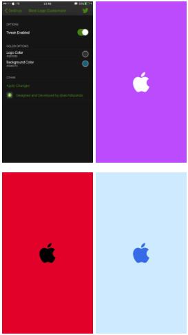 Bootlogocustomizer اداة لتغيير ألوان شعار آبل Places To Visit Incoming Call Screenshot Visiting