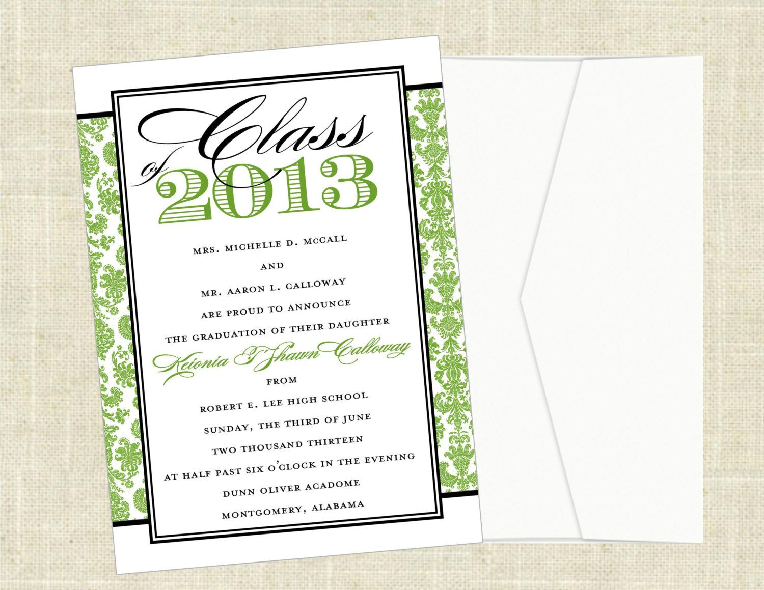 Printable Graduation Announcements College High School