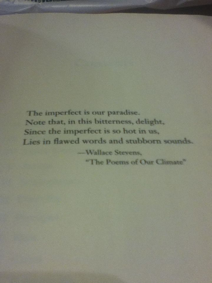 "Wallace Stevens ""The Poems of Our Climate"""