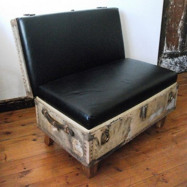 Creative Ways Of ReUsing Old Suitcases Suitcases Old - Beautiful retro modern chairs made old suitcases