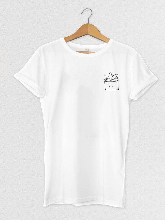 b6d04534a1 Cute Succulent T-shirt, Tops, Tees, Unisex, Womens, Plants ...