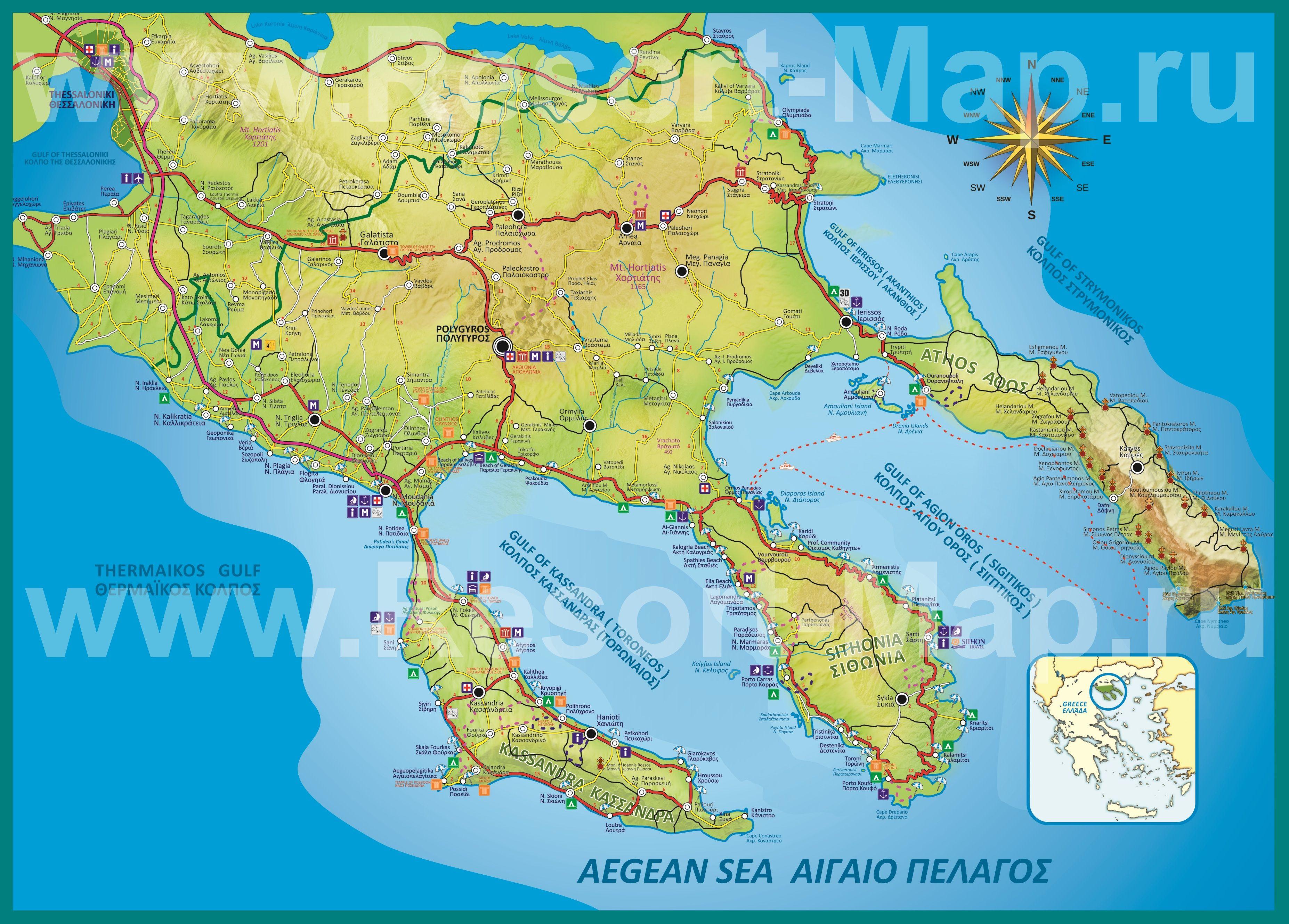 resortmapru greece kartahalkidiki podrobnayakartahalkidikijpg