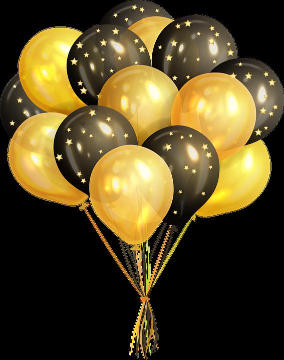 تمويل بالون الذهب بالونات قصاصات فنية ذهبي بالون Png وملف Psd للتحميل مجانا In 2021 Black And Gold Balloons Rose Gold Backgrounds Balloons