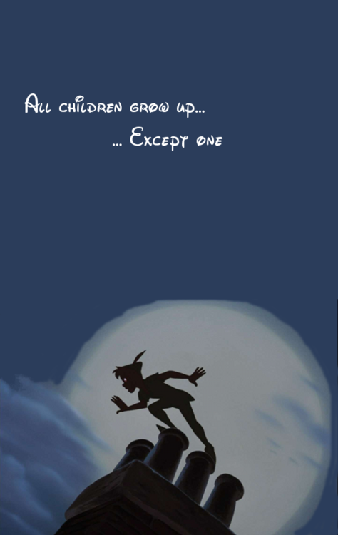All Children Grow Upexcept One Michael A Disney Peter Pan