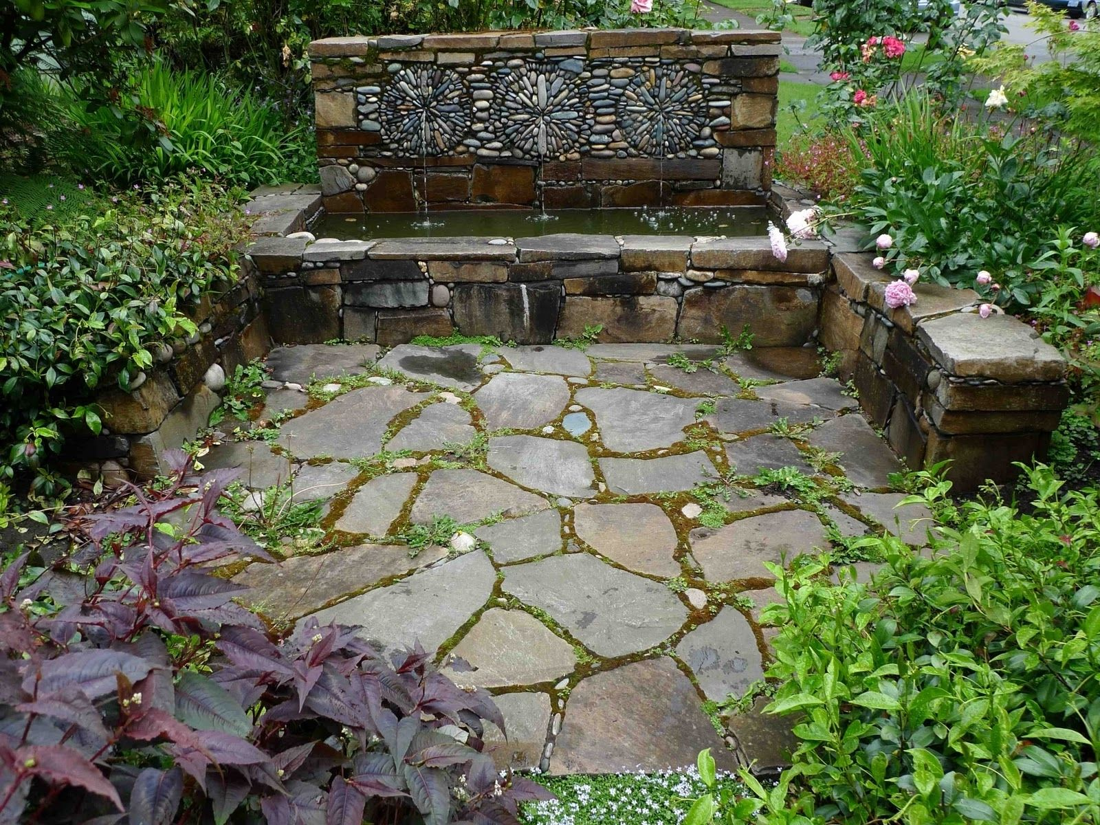 Small Mediterranean Garden Ideas Amazing And Cool Pond Exterior ...