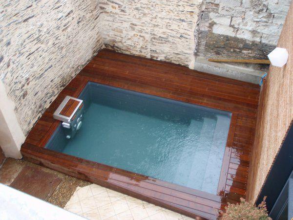 Piscine 4*2.5 avec terrasse bois | ::: Montussan ::: | Pinterest ...