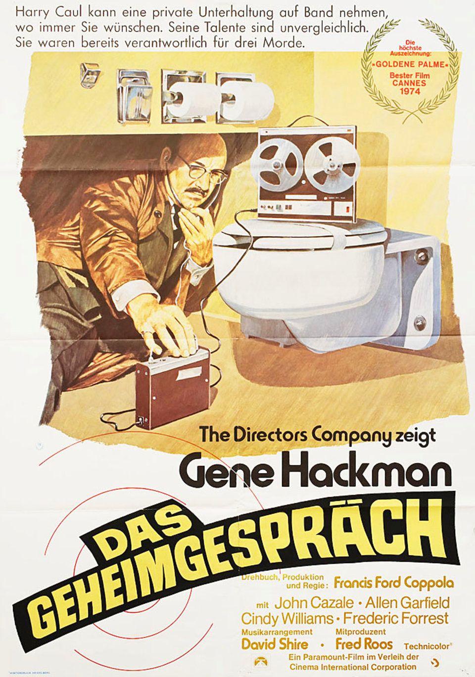 The Conversation 1974 German A1 Poster Posteritati Movie