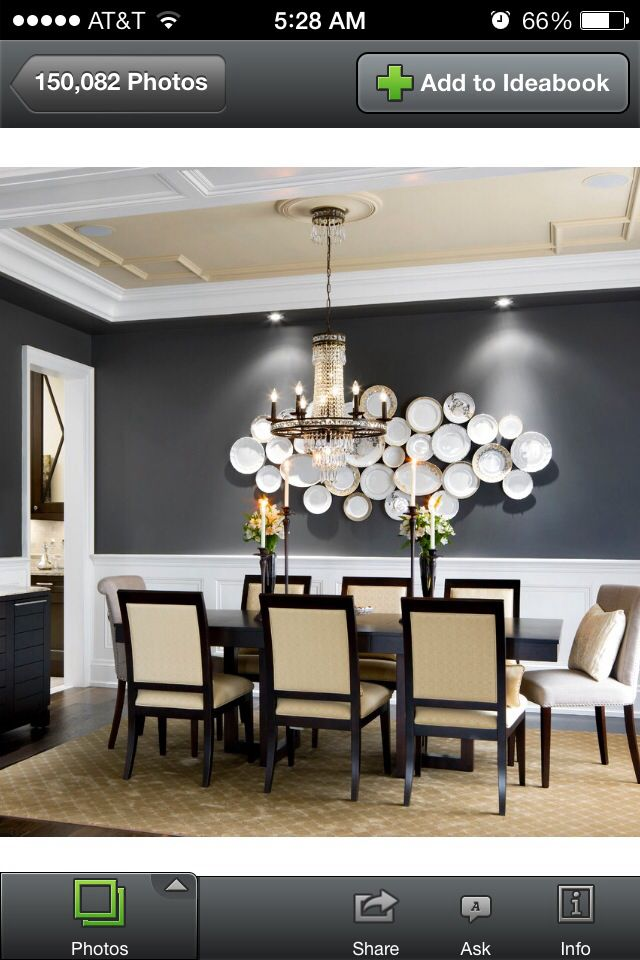 From houzz (With images) | Dining room wall decor, Dining ...