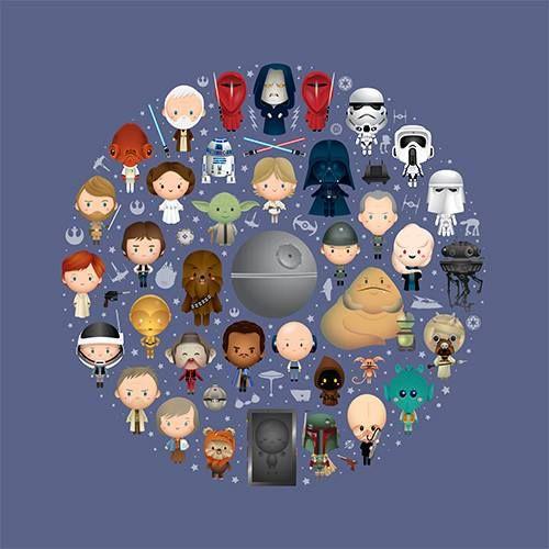 A Galaxy Of Cute Star Wars Art Star Wars Wallpaper Star Wars Love
