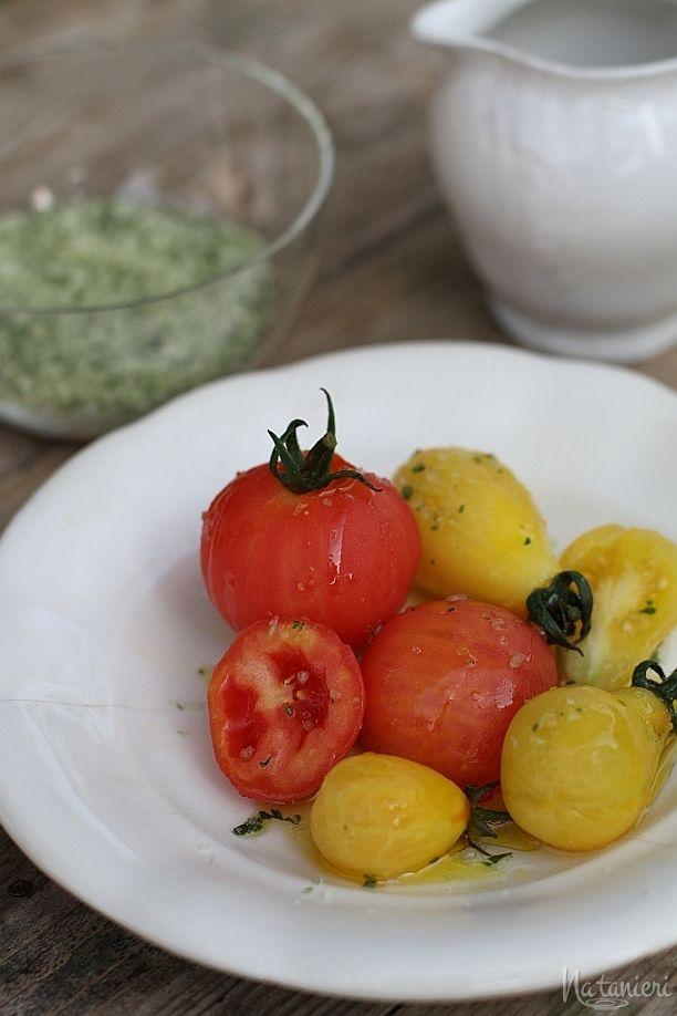 marinované paradajky sbylinkovou soľou
