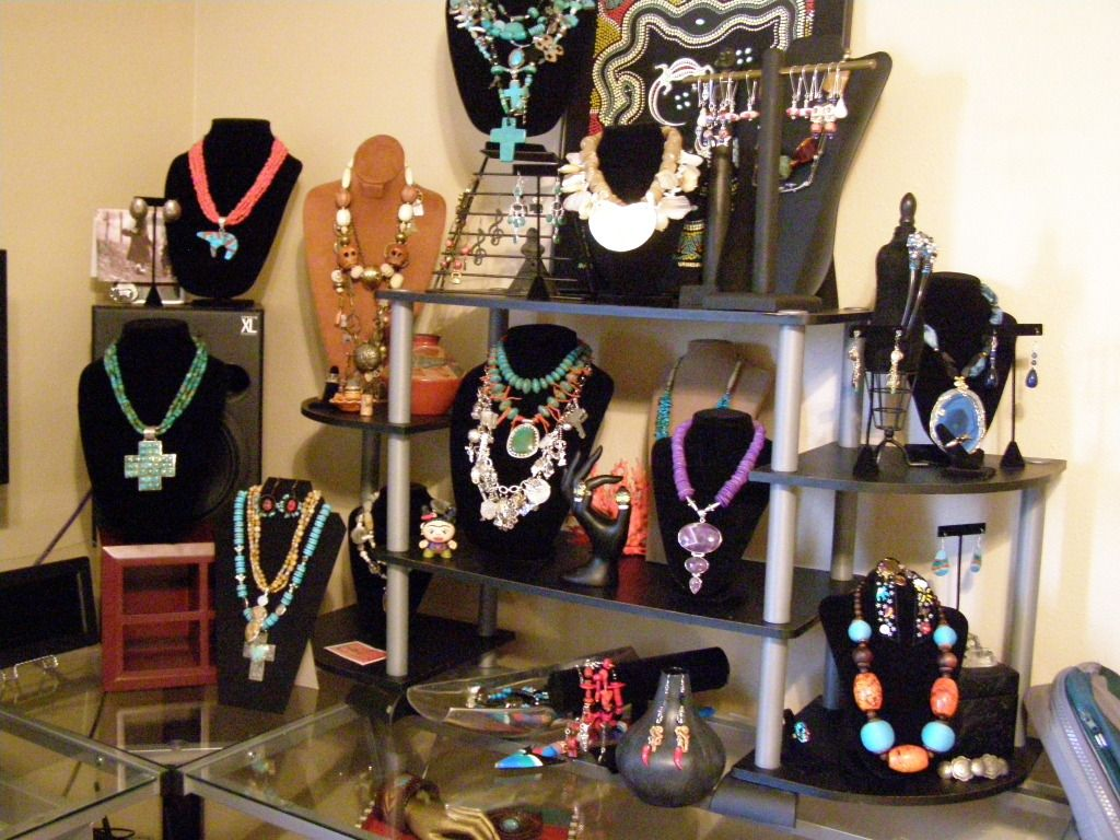 Excellent vertical display for jewelry in a small area for How to make a ring display for craft shows