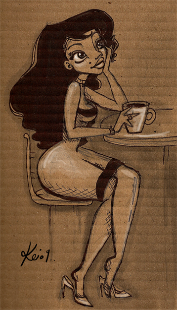 carboard and coffee by *kinkei
