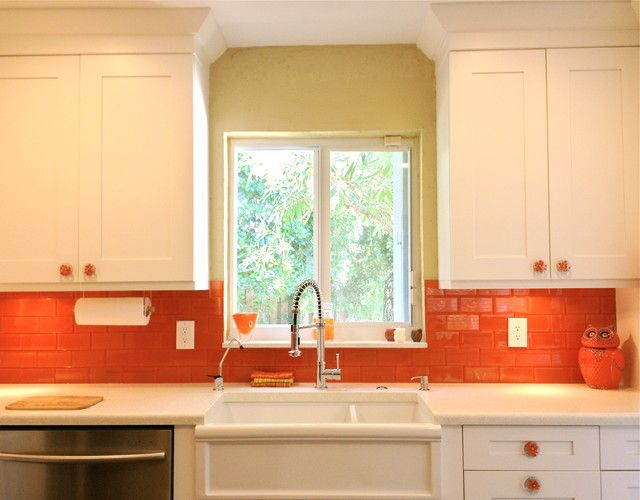 My Daughter Lauren Would Love This Orange Backsplash Check Out