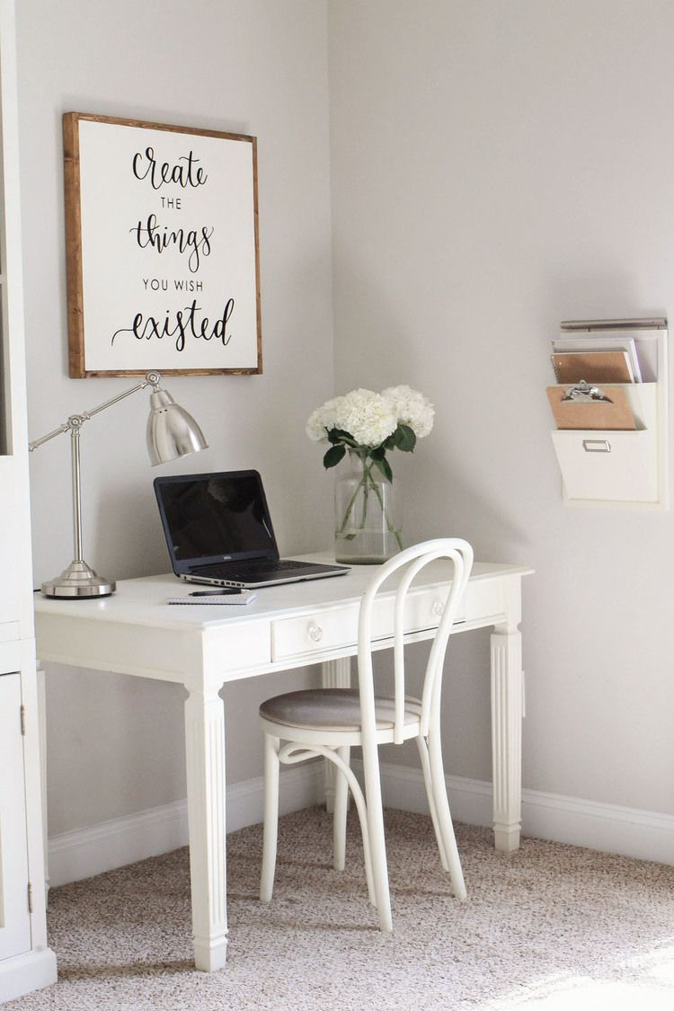 Rustic Chic Home Office Makeover Reveal Pretty Decor Click To See All Photos Of The