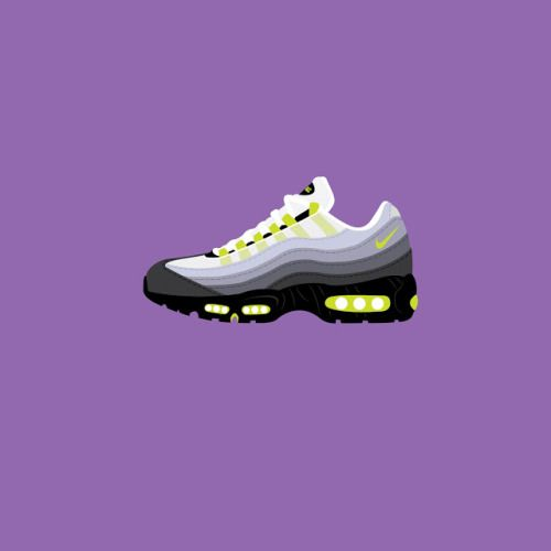 nike air max 95 vector background