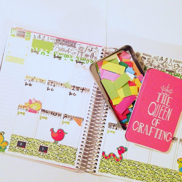 Day 17: Me time... is planning time! I use this time to unwind from work and just craft my hours away until bedtime! I'm currently working on my September spreads.