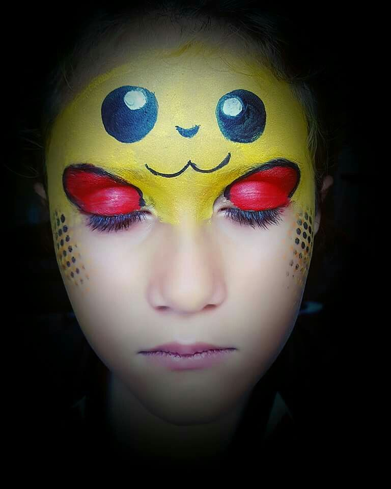Pikachu Maquillaje Infantil Pintacaritas Ninos Arte Corporal