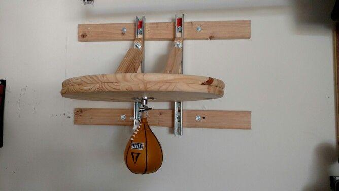 Diy Adjustable Wall Mountable Speed Bag Platform Home Made Gym Diy Gym Equipment Diy Home Gym