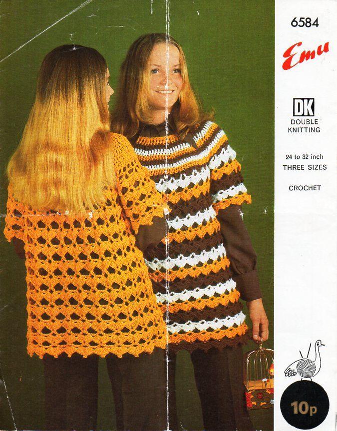 Vintage girls crochet sweater Crochet pattern PDF girls crochet ...