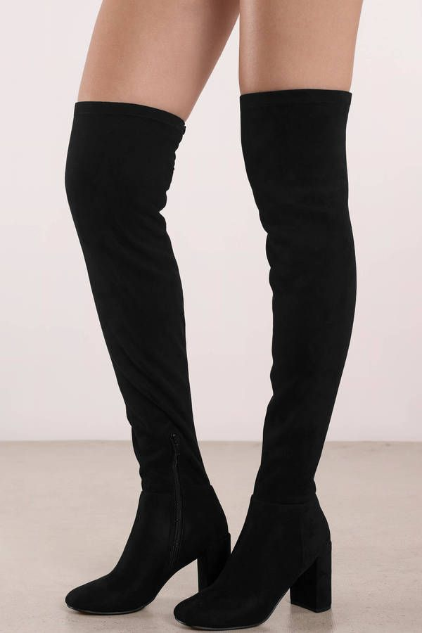 Cheap Suede Thigh High Boots