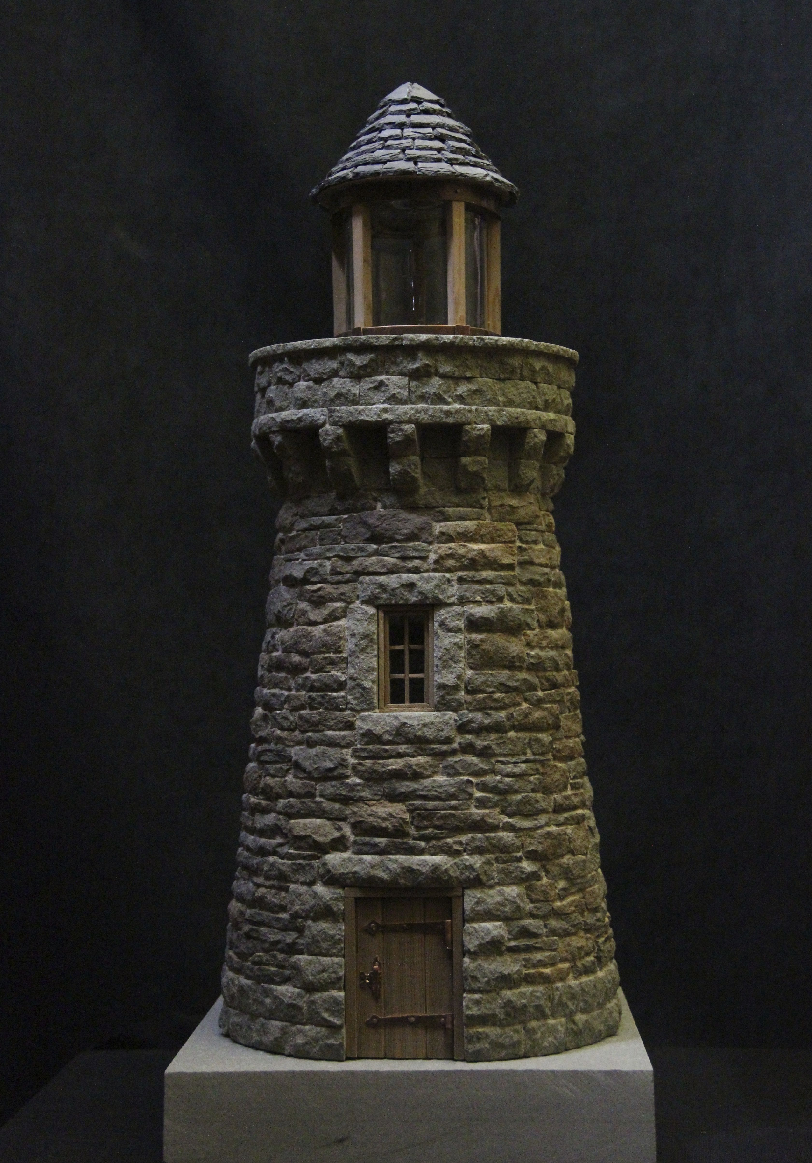 4 stone lighthouse im going to make one for my garden miniature stone lighthouse sciox Image collections