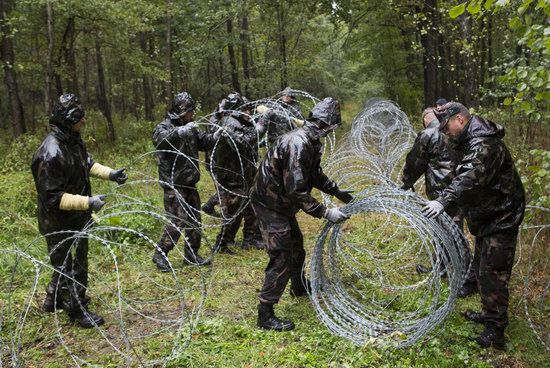 German Company Refuses To Deliver Razor Wire To Hungary Mutanox, a Berlin-based company, refused to deliver a shipment of razor wire to Hungary, which the country would have used to build a fence around its border to ward off migrants and refugees entering the country.