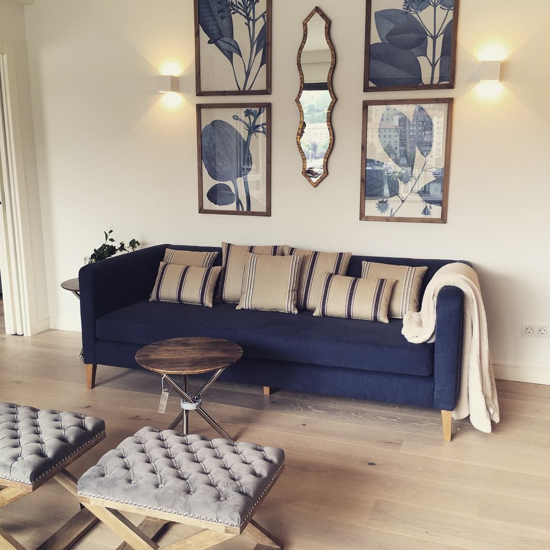cojin para mueble azul
