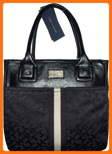 6b453b85959ee Tommy Hilfiger Women s Tote Handbag Black Tonal - Totes ( Amazon  Partner-Link)