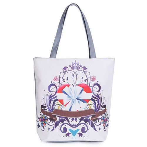22ae9a7bfd Butterfly Printed Casual Tote Large Capacity Female Handbags Single Shoulder  Shopping Bags Daily Use Women Canvas