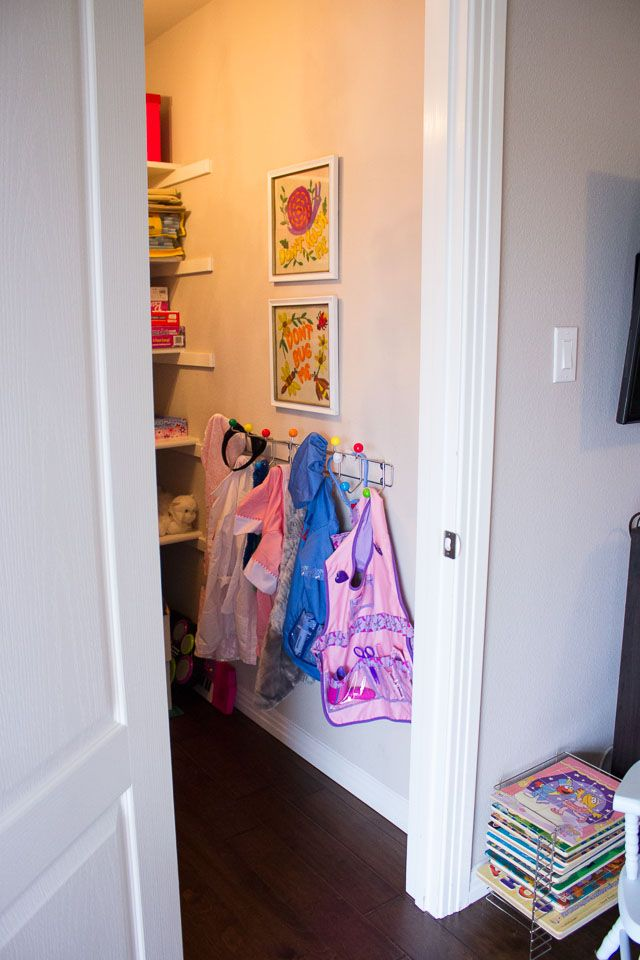 Playing Dress Up Storage Closet Idea Needs A Mirror And Basket For Shoes Gloves Hats Etc