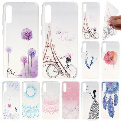 For Samsung A10 A20E A40 A50 A7 2018 A71 Painted Slim Soft Silicone Ca
