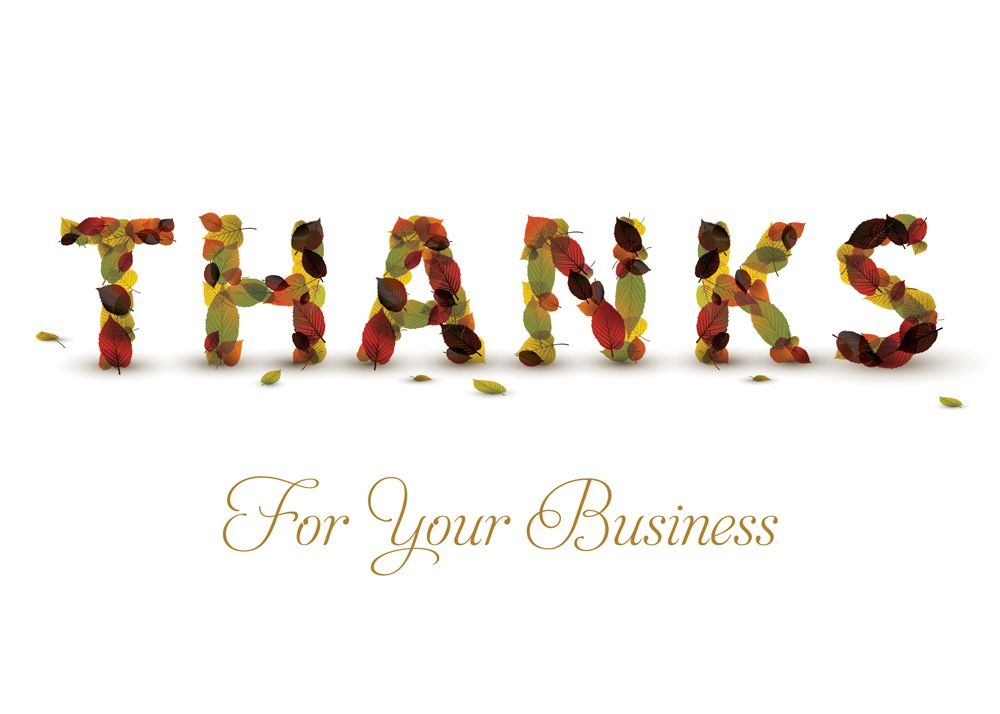 Business Thanks Thanksgiving Card - Advanced Printing  Graphic Sol