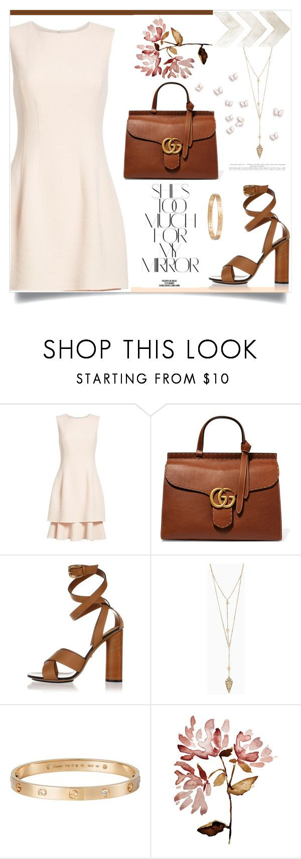 """Untitled #185"" by d-meggy ❤ liked on Polyvore featuring Oscar de la Renta, Gucci, Cartier and Rika"