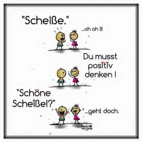 """Auth German Learning on Twitter: """"Es ist gut, positiv zu denken – auch wenn es mal nicht so gut läuft! 😂👍👏💪… """""""