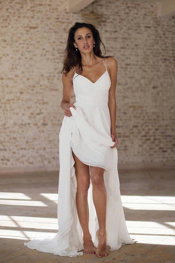 Wedding Dress Simple Chiffon Wedding Dress Beach Wedding Off