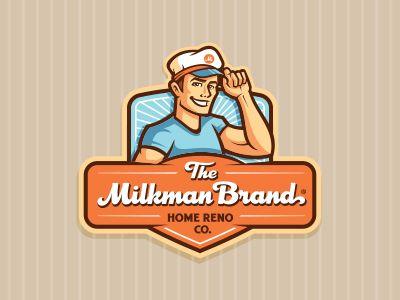 The Milkman Brand Branding Design Logo Logo Design Simple Logo Design