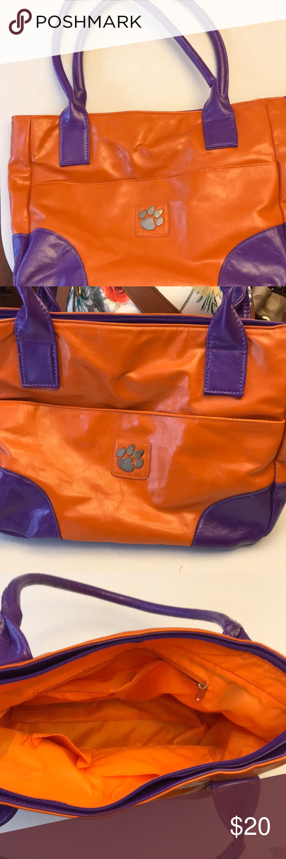 80aa186dd57 Clemson Tigers Tote Clemson Tiger Tote Perfect for ball game yima Bags Totes
