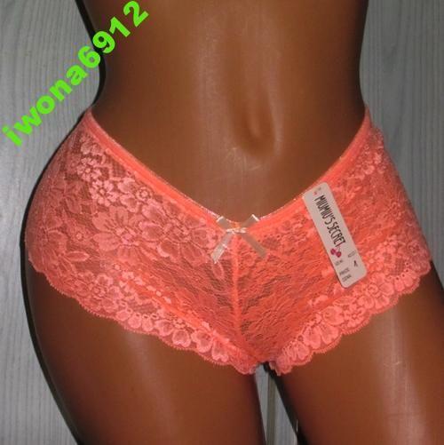 Koronkowe Szorty Majtki Figi Secret M L 1 Swimwear Bikinis Fashion