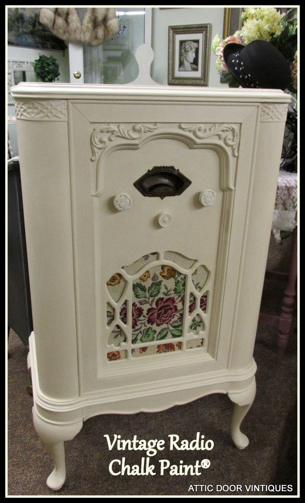 Vintage Radio Cabinet Painted With Chalk Paint 174 Attic